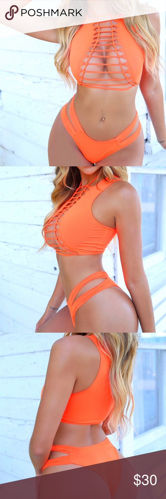 Photo of OMG Miami Swimwear/ Orange Peekaboo Bikini Meow! This is the hottest swimsuit on…