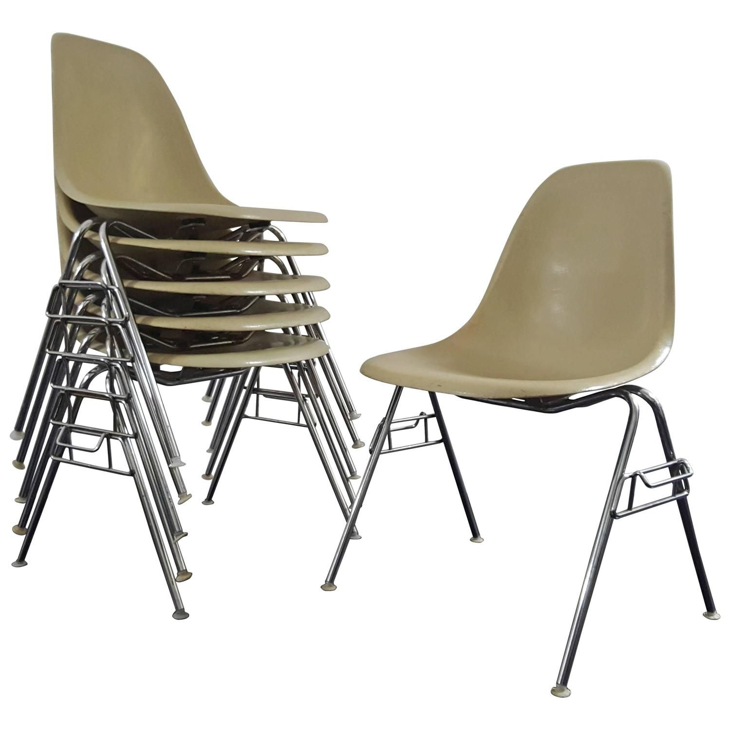 Charles Eames Stuhl Original Original Vintage Charles Ray Eames Dss Stacking Chairs For