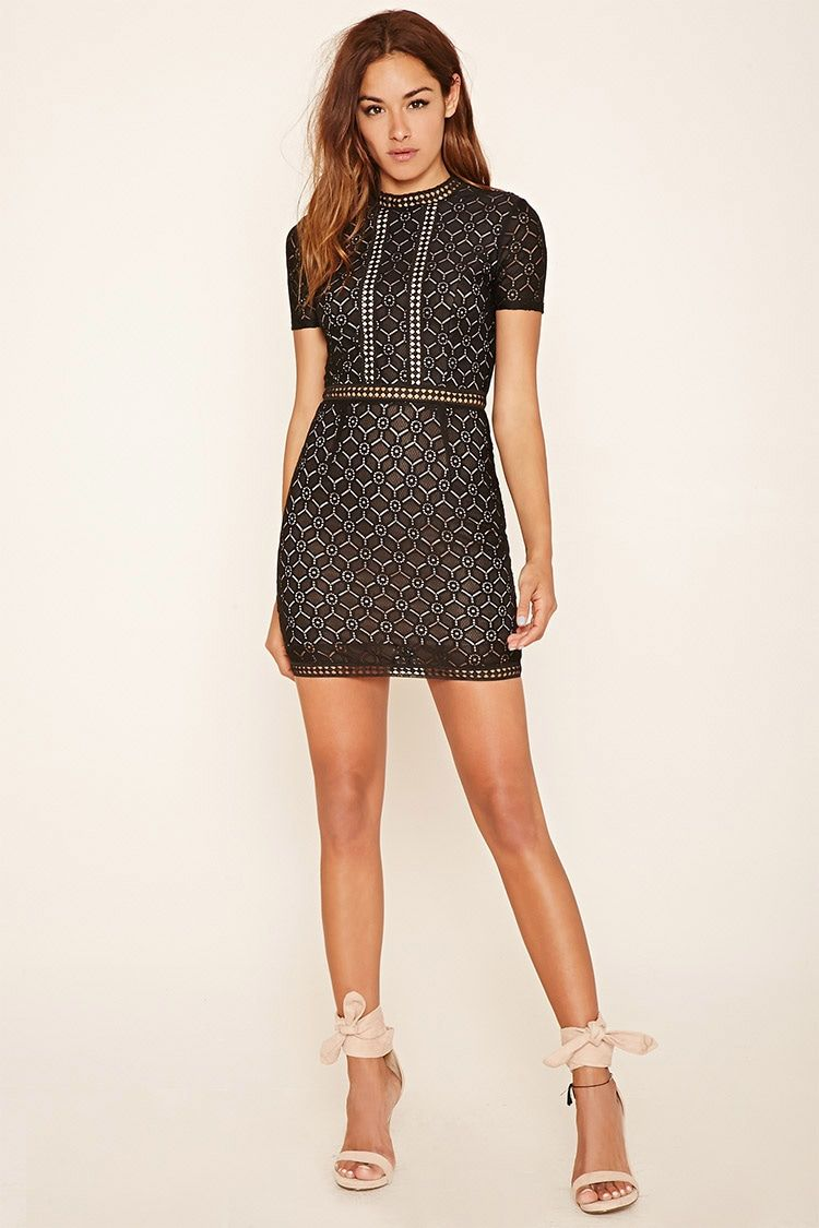Embroidered Lace Dress - INSTA-WORTHY OUTFITS - 2000205162 ...