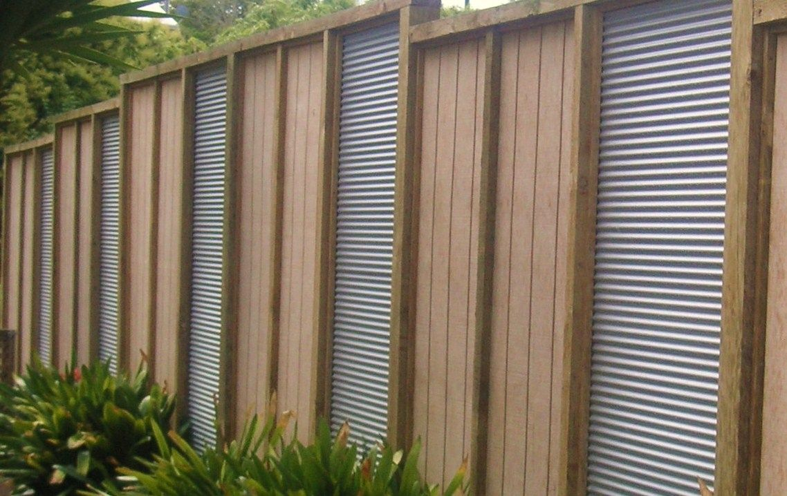 Combination Of Corrugated Iron And Timber Corrugated