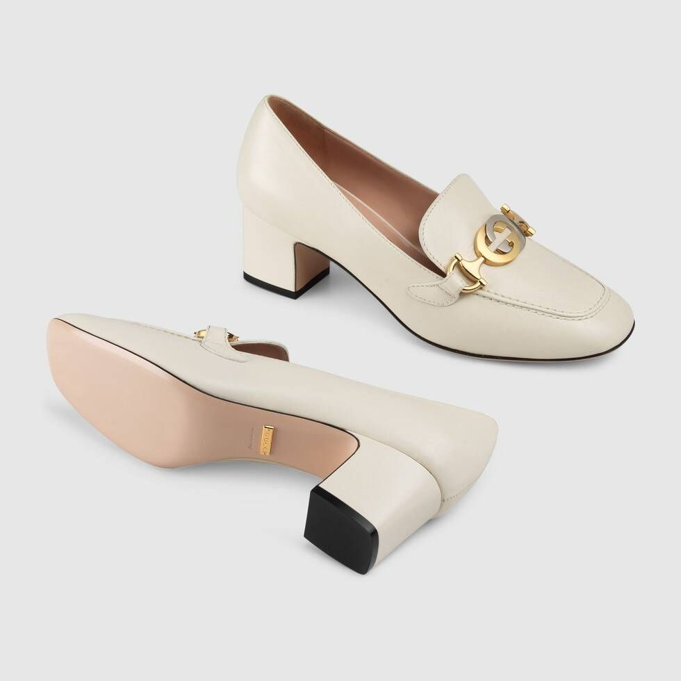 Heeled Loafers | Block Heel Loafers  | GUCCI® US