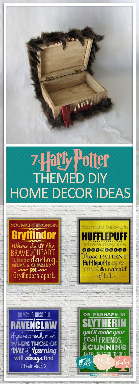 7 Harry Potter Themed DIY Home Decor Ideas| Harry Potter, DIY Projects, DIY Home Decor, DIY Home Decor Projects, DIY Home Decor on a Budget, DIY Crafts #partybudgeting
