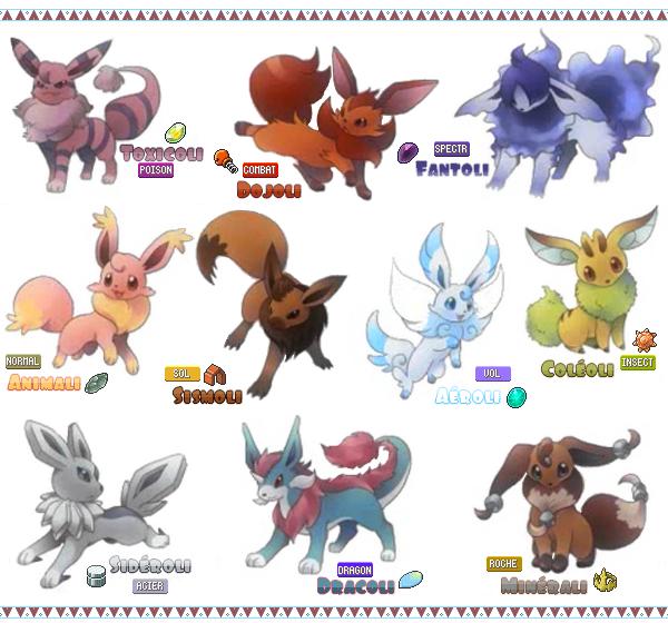 Afficher l 39 image d 39 origine anime fnaf and undertale pinterest images evoli et evolution evoli - Famille evoli pokemon ...