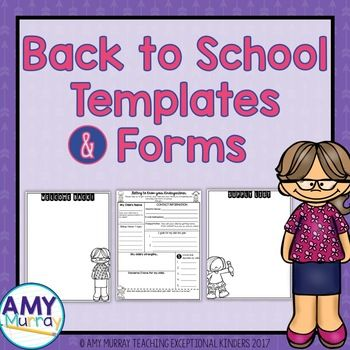 back to school forms teacher introduction letter template