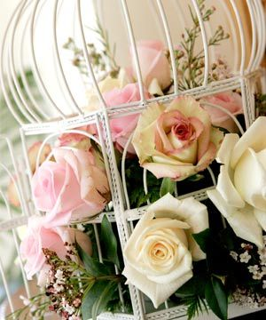 flowers cage