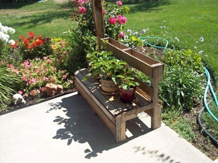 idées pour fabriquer un banc en palette charmant  Jardin - plan pour fabriquer un banc de jardin