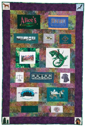 Read about how to make a great t-shirt quilt! http://www.quiltmaker.com/articles/A_Different_Sort_of_T_Time