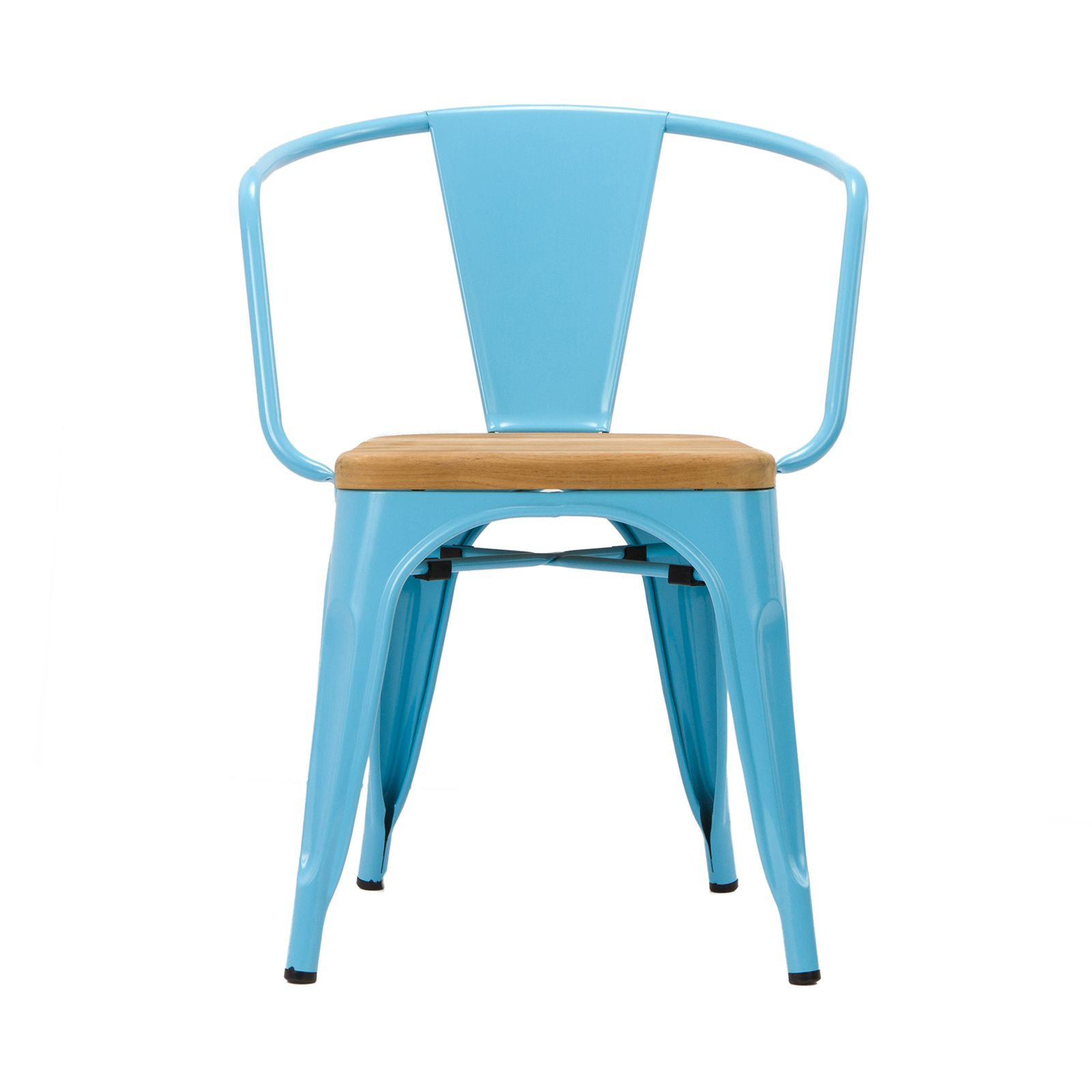 Bistro Arm Chair in Blue - Set of 2 - Dot & Bo