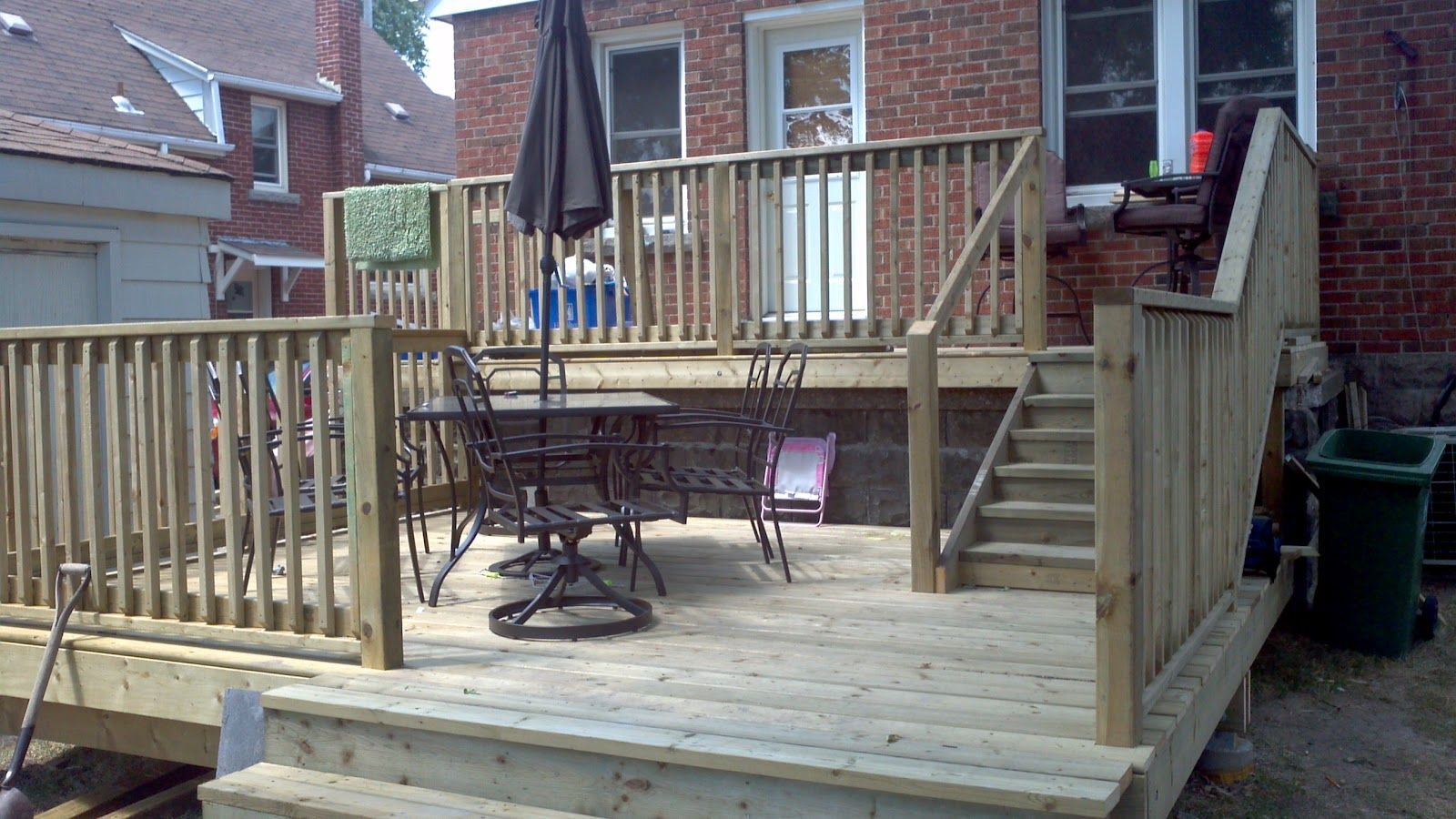 Two Tier Decks Two Tier Backyard Deck Home Pinterest