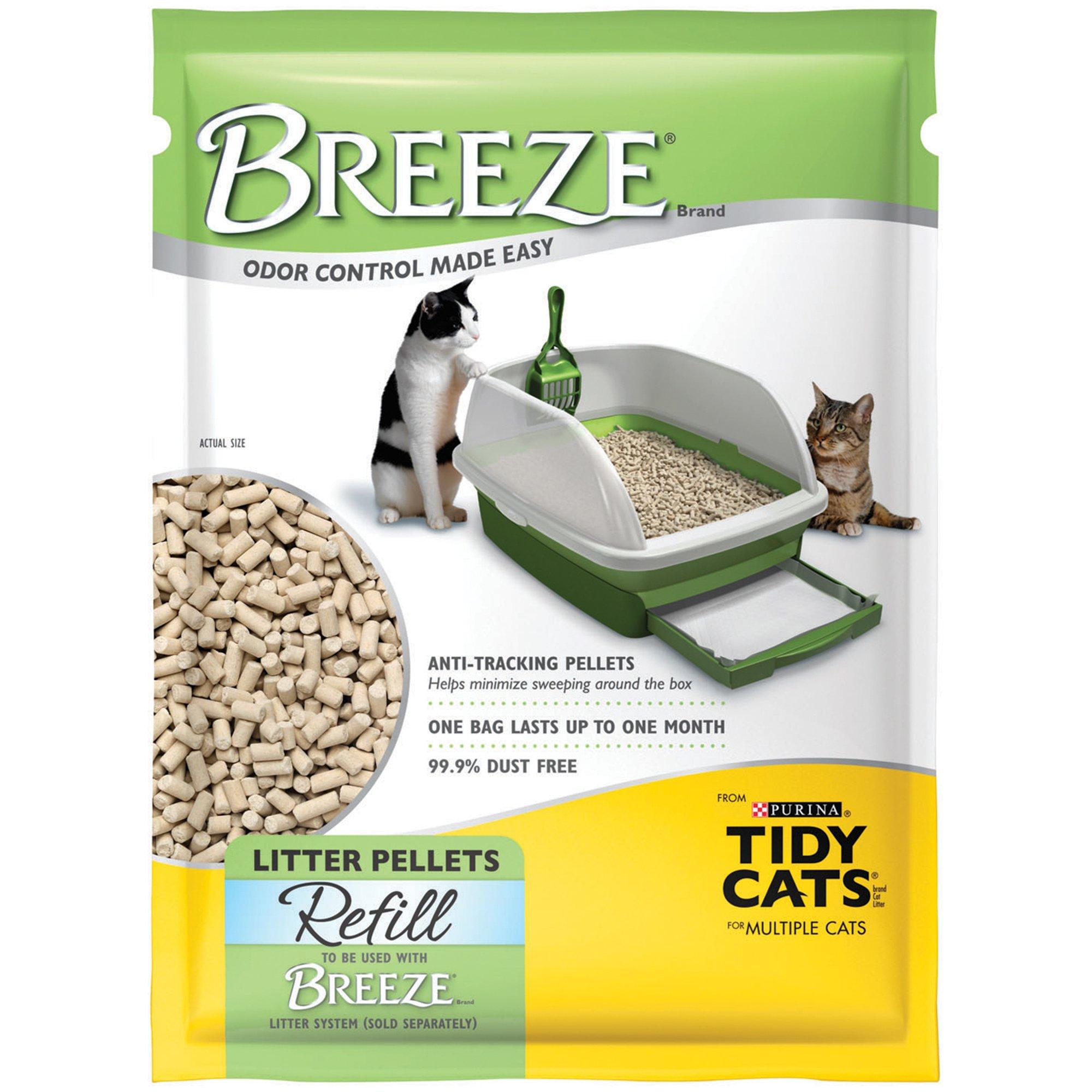 Purina Tidy Cats Breeze Pellets Refill Litter For Multiple Cats 3 5 Lbs Tidy Cats Tidy Cat Litter Best Clumping Cat Litter