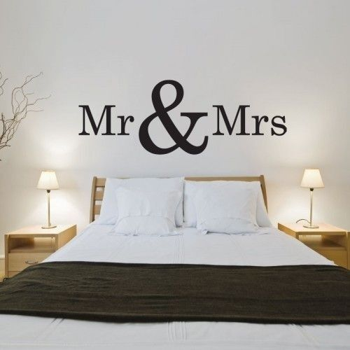 Muursticker tekst slaapkamer: Mr & Mrs | Muursticker teksten en ...