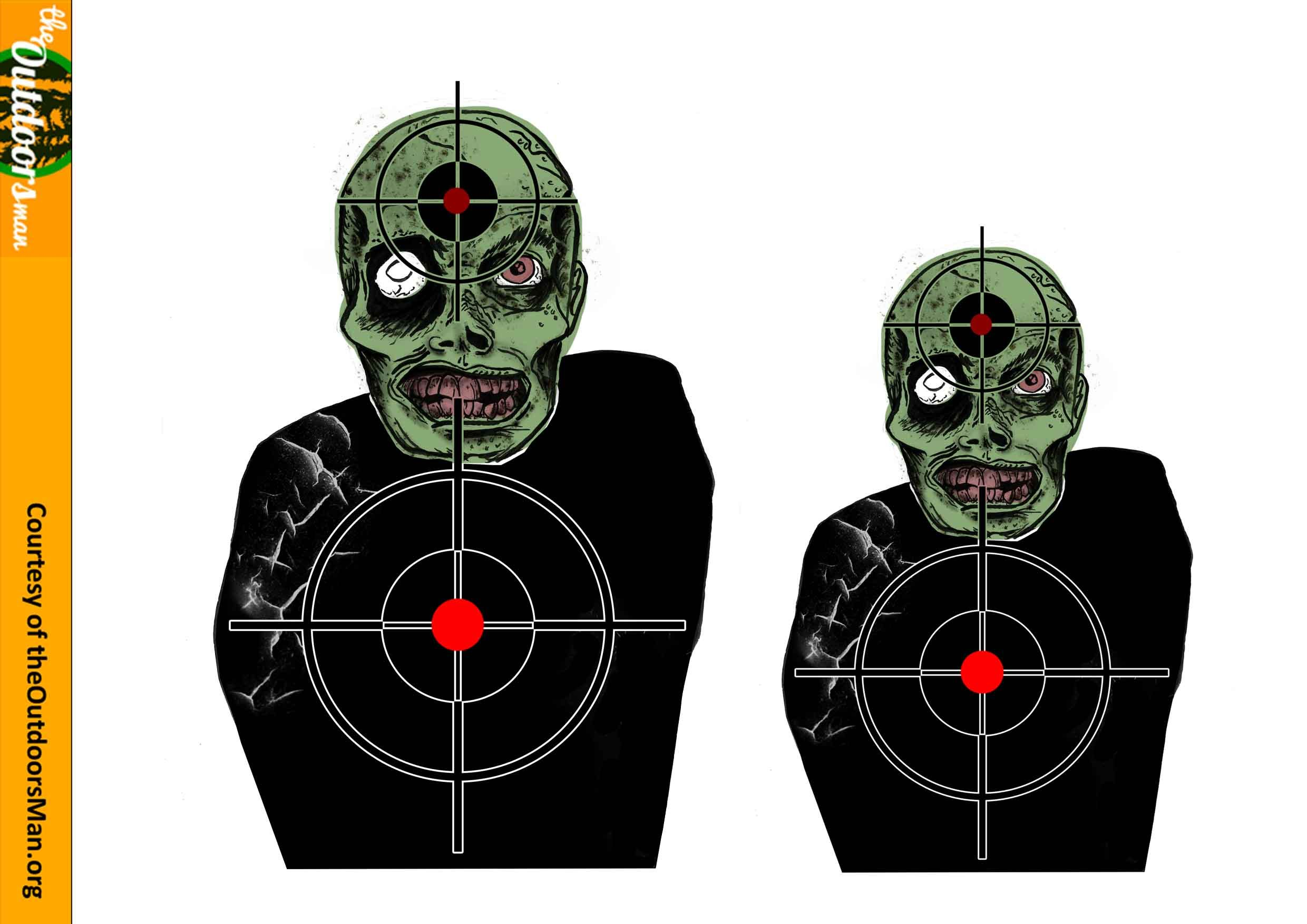 This is an image of Nifty Zombie Target Printable