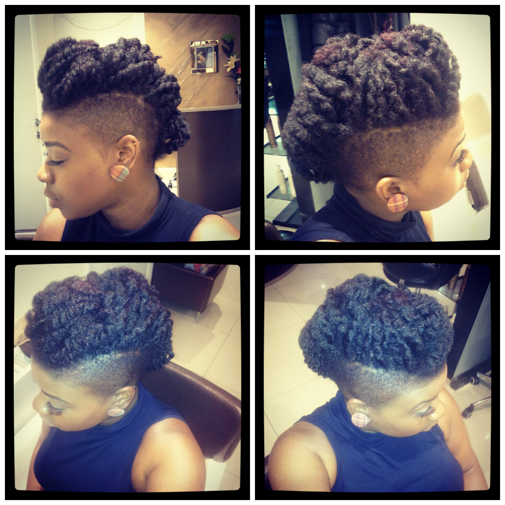Twistout mohawk shared by keisha twists natural and natural