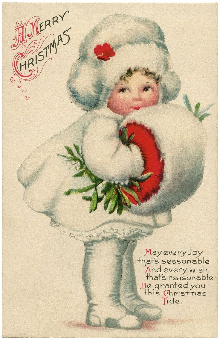 image result for girl mailing christmas cards ellen clapsaddle children - Mailing Christmas Cards
