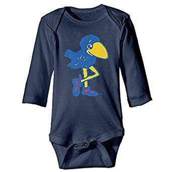 Kansas Jayhawks KU Logo Cute Baby Onesie