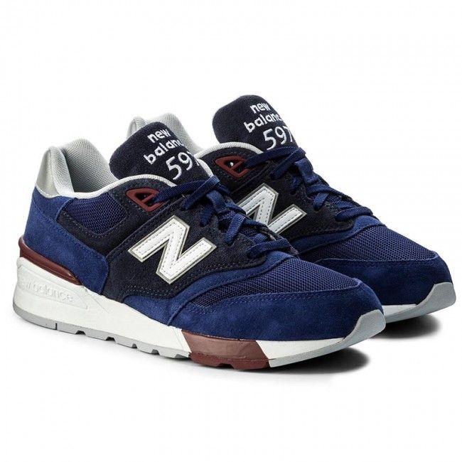 bca81f0fddef0 Sneakersy NEW BALANCE - ML597VAB Tmavo modrá | pss