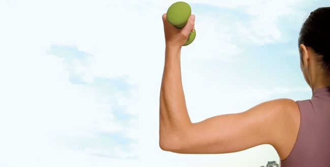 Tone your arms in 10 minutes - you should see results in about 4 weeks.