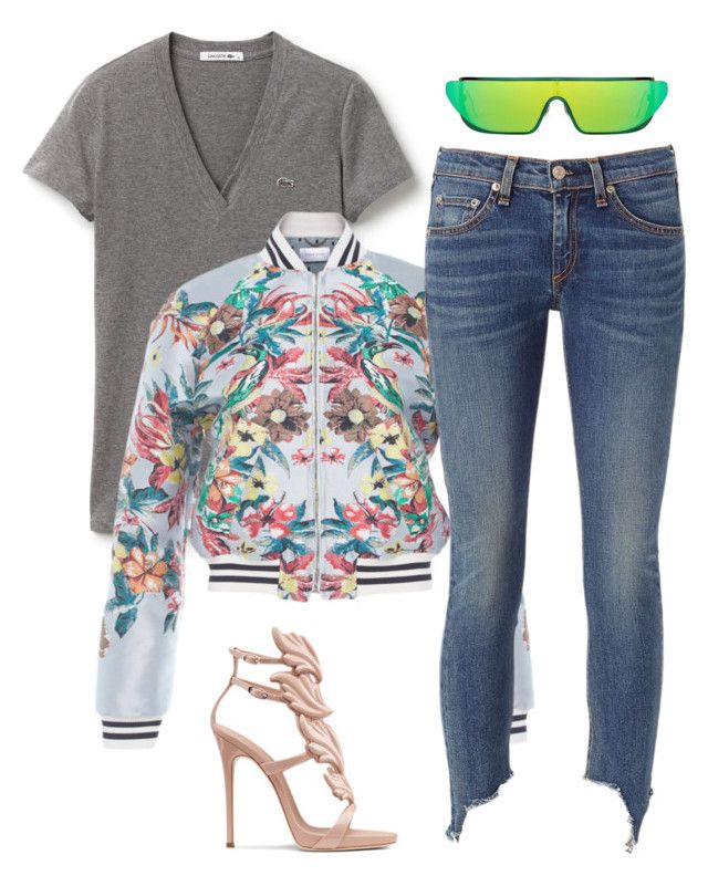 Untitled #5170 by stylistbyair on Polyvore featuring polyvore fashion style Lacoste Zuhair Murad rag & bone clothing