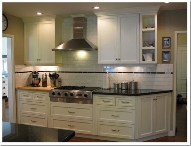 Kitchen Backsplash Accent Tiles Photos a consultation on white benjamin moore trim | subway tile