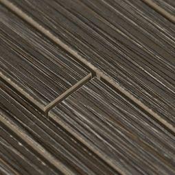 9 99 Runway Ebony Stick Mosaic Porcelain Tile 6 X 16 Polished Smooth