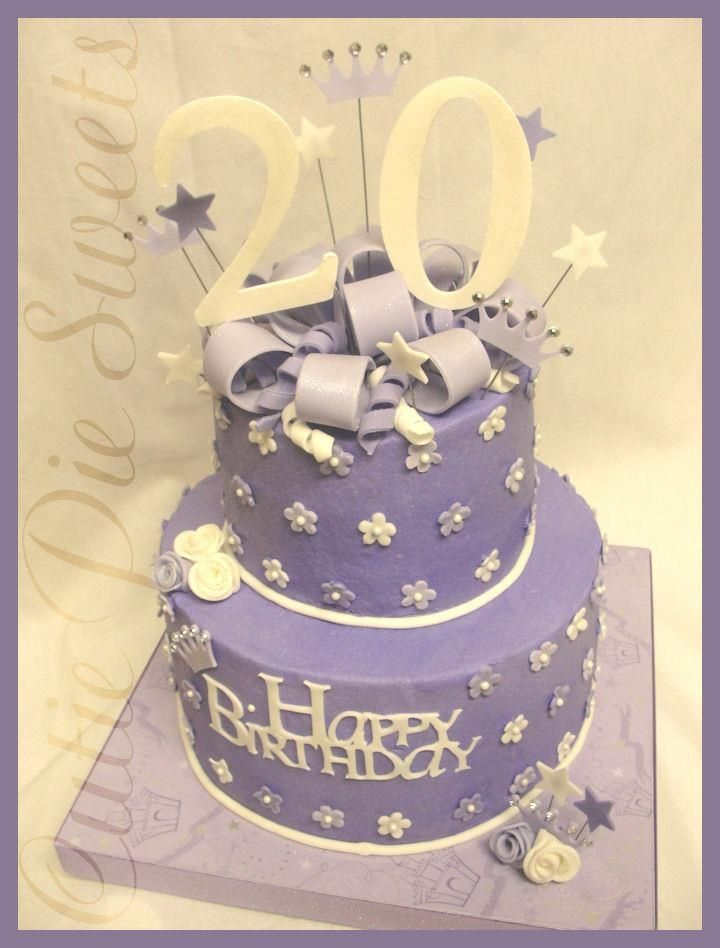 Awesome 20th Birthday Cake Image