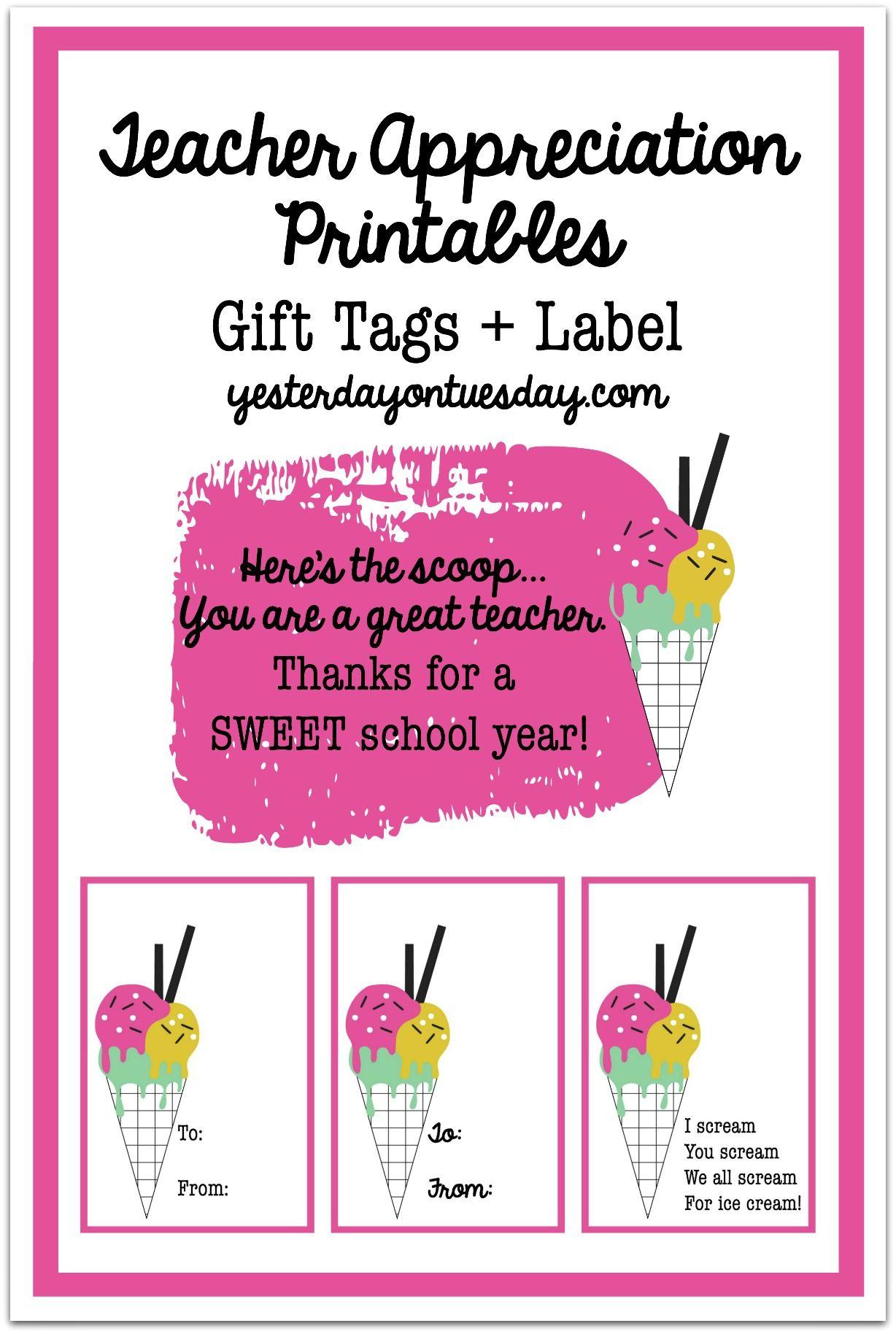 Teacher Gift In A Jar Ice Cream Themed Teacher Appreciation