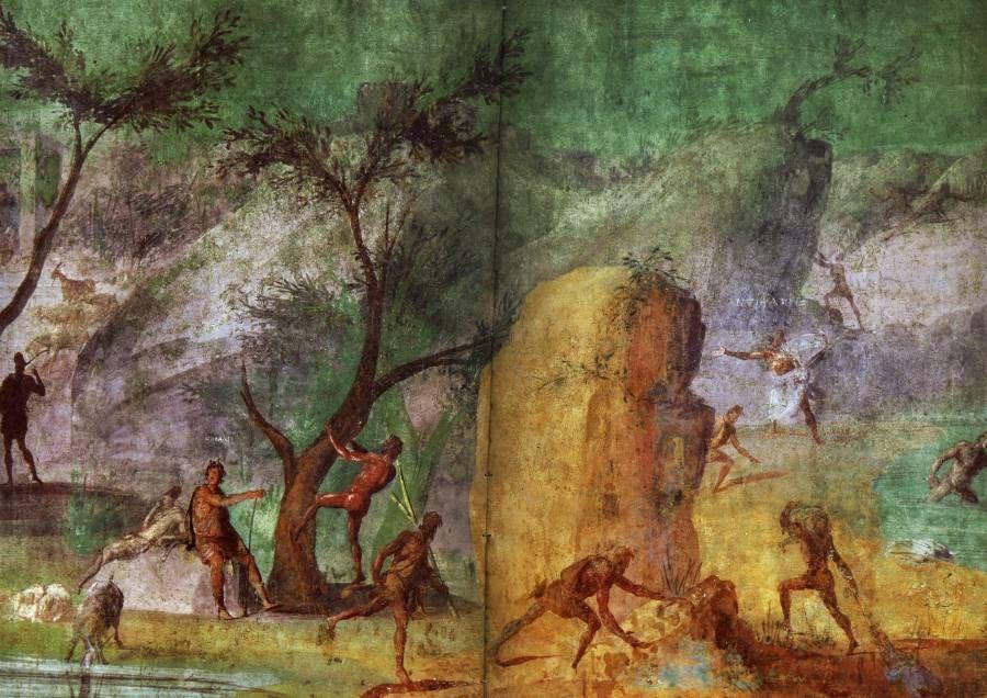 Ulysse Face Aux Lestrygons Peinture Murale Dans La Maison De L