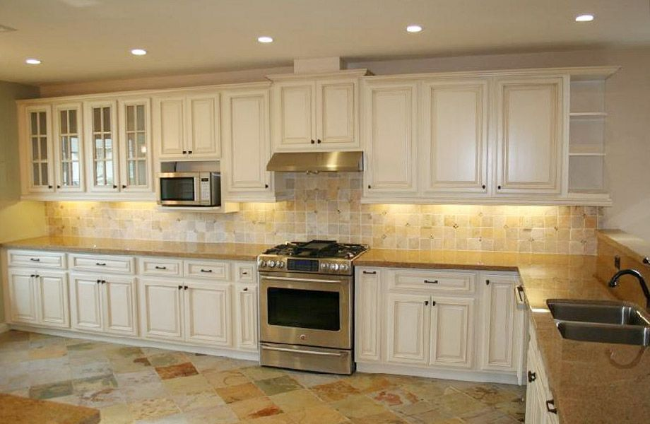 Cream Glazed Kitchen Cabinets 2015 Kitchen Pinterest