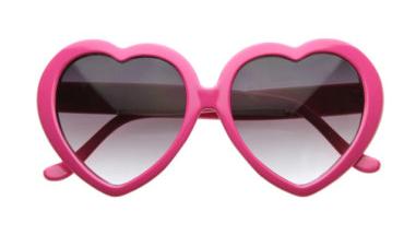 Prueba las gafas para ver la vida de color rosa y experimentar la Actitud Rosa:)