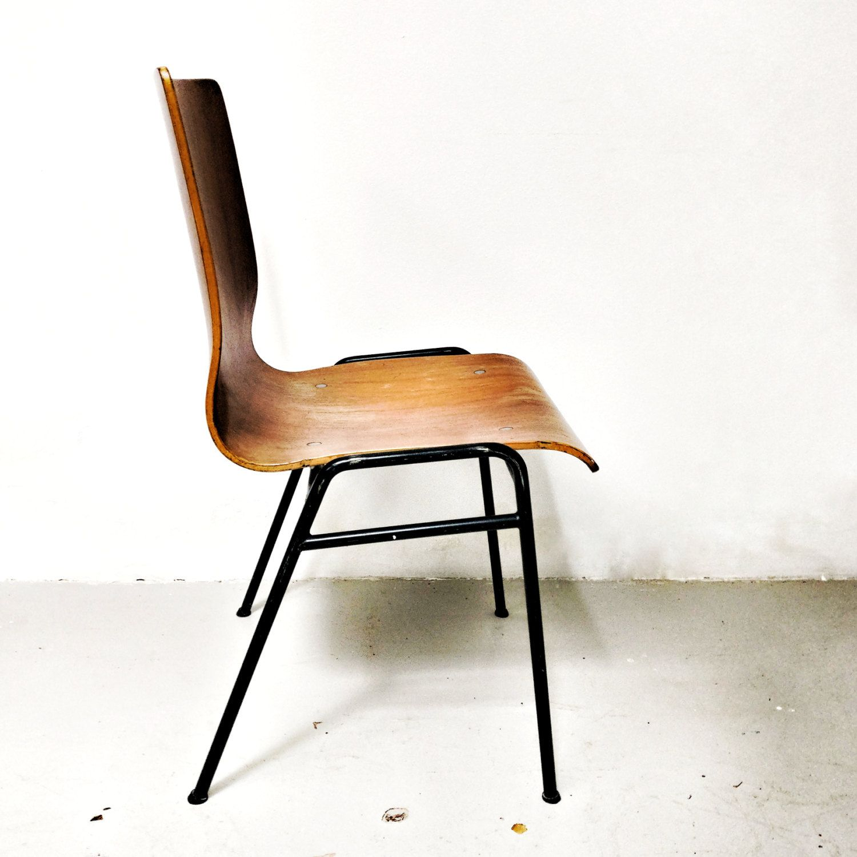 Sedie In Legno Curvato.Sedia Vintage Originale Anni 50 In Legno Curvato Di Vintage30store
