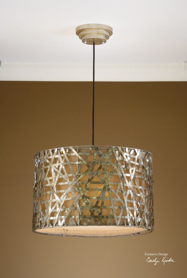 Alita Champagne Metal Hanging Shade From Uttermost