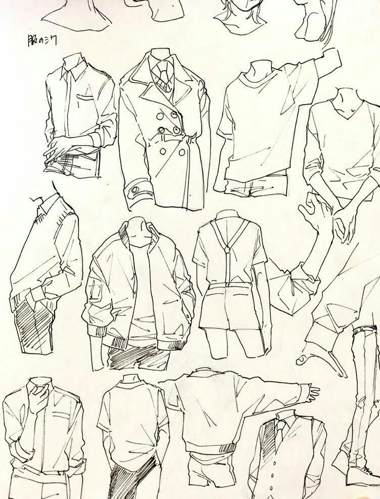 Long sleeves, short sleeves, shirt, sweater, folds, cloth, reference, tucked in, jacket, torso, clothes, outfit, pose, collar, button up, t-shirt, coat, suit