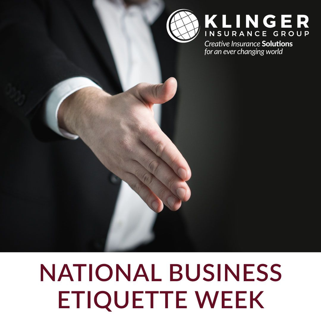 June 4th Through 10th Is National Business Etiquette Week This