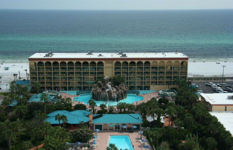 Ft Walton Ramada Inn We Often Stayed Here When I Was A Kid The Rock In Middle Is Bar You Swim Through Waterfall To Enter