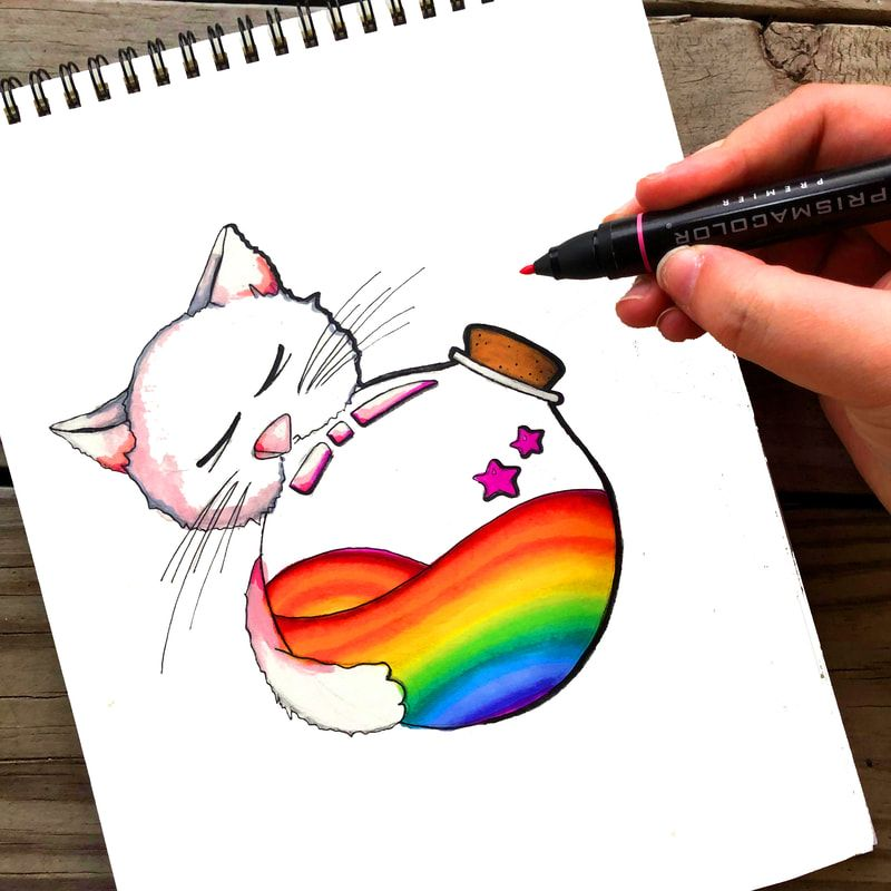 #100daysofcharactersandscenes Drawing Challenge Days 11-22 cute kitten art