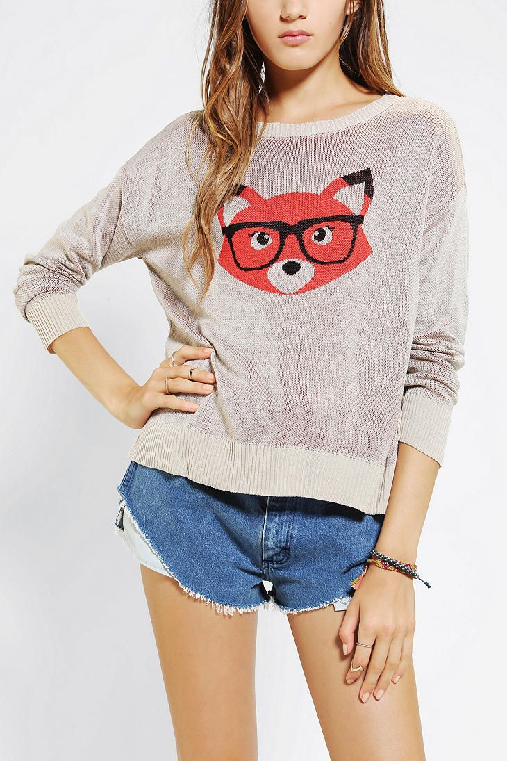 Coincidence \u0026 Chance Foxy Geek Sweater at urban outfitters Pretty sure I  need this now.