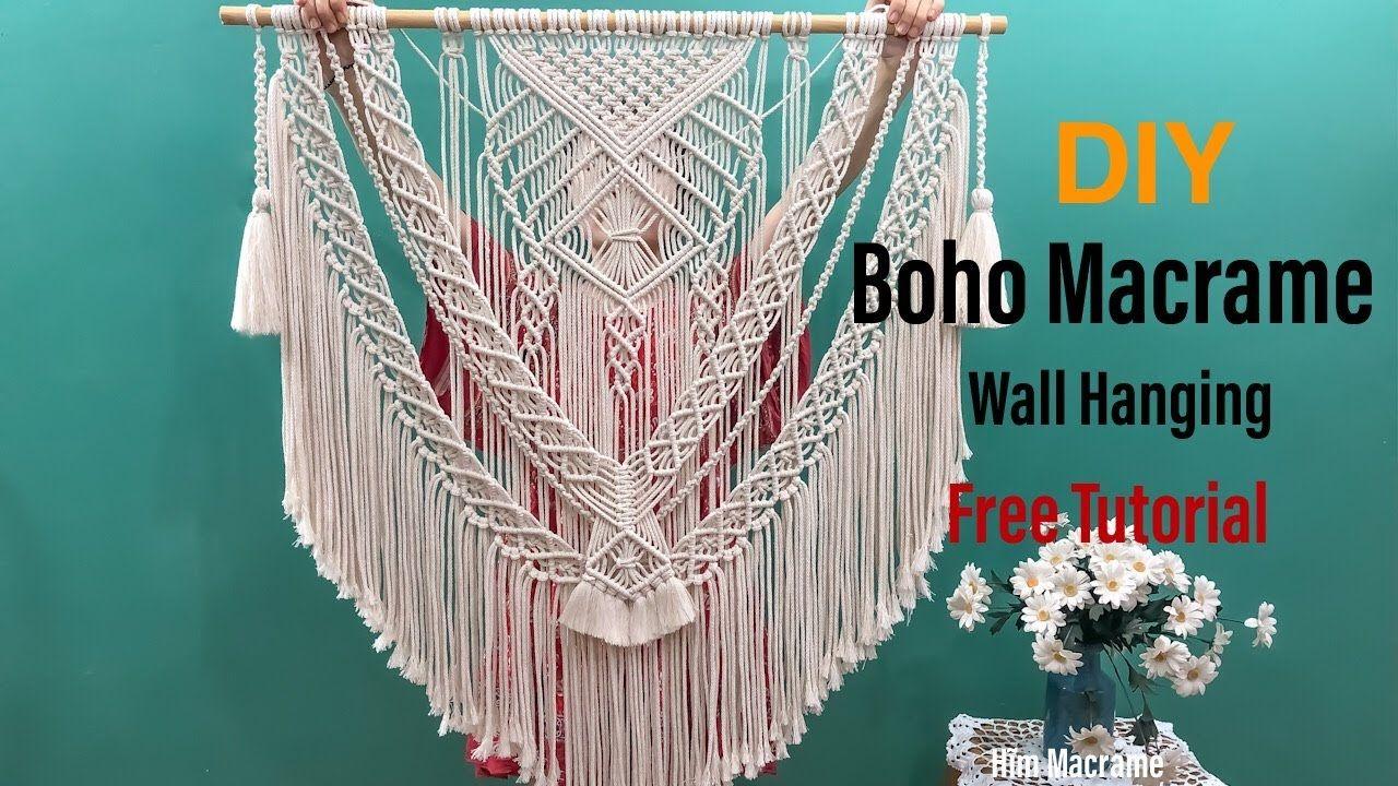 diy boho macrame wall hanging tutorial so easy even you on macrame wall hanging id=51491