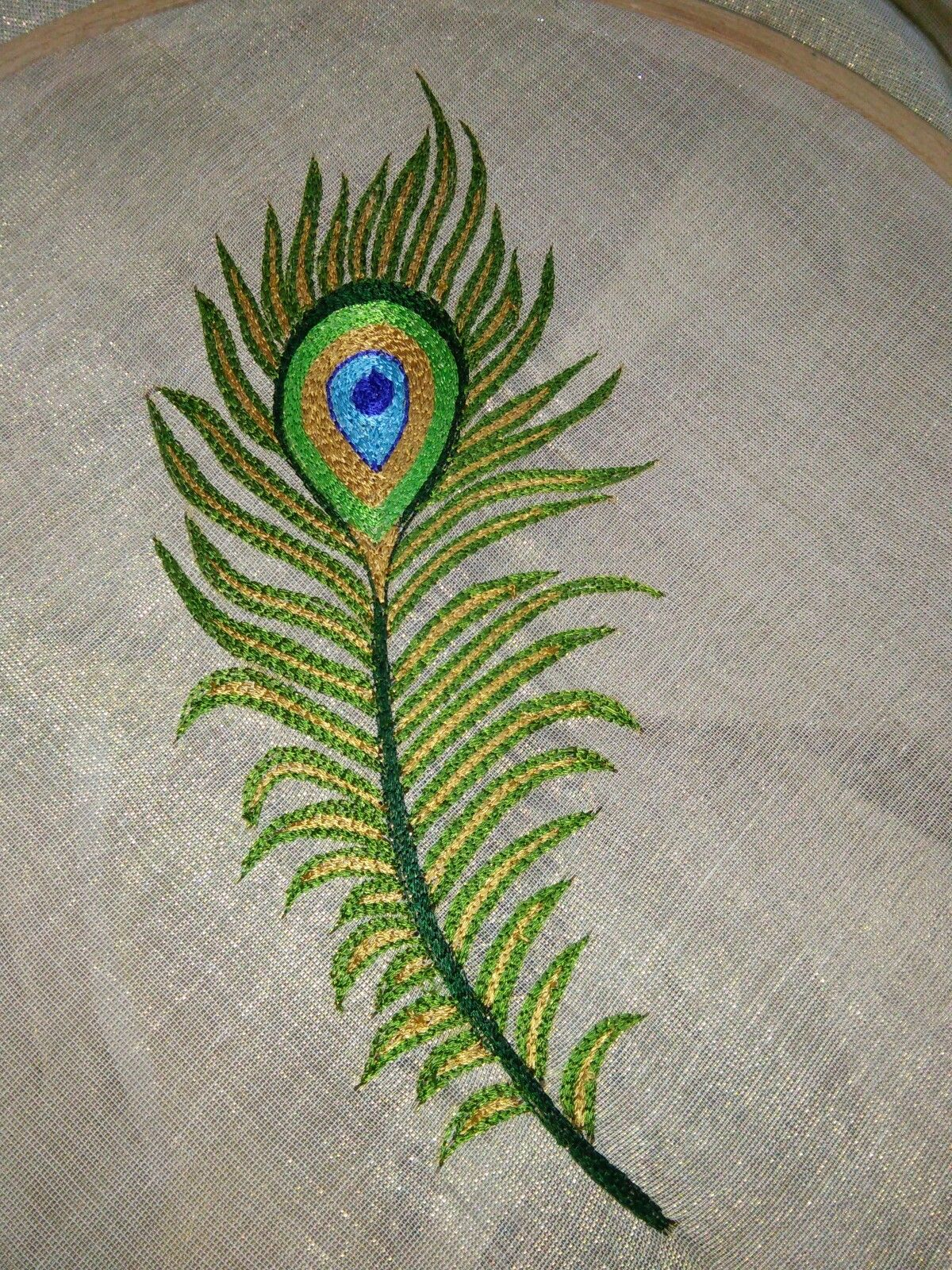 Peacock Feather Embroidery Feather Embroidery Hand