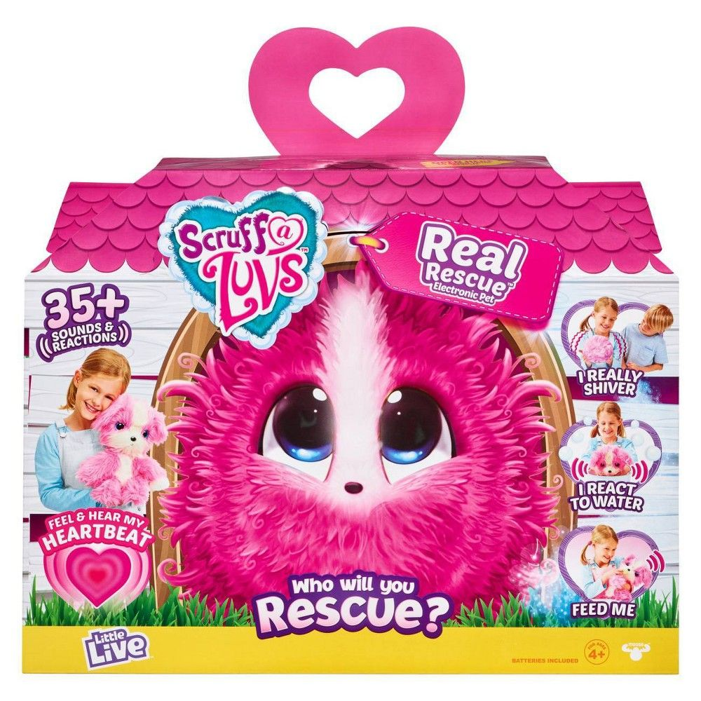 Little Live Scruff A Luvs Real Rescue Electronic Pet Pink Little Live Pets Animal Rescue Moose Toys