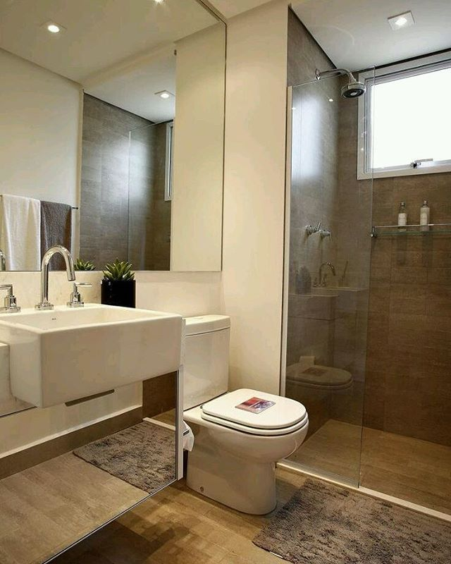 Bathroom Ideas, Small Bathroom Layout, Simple Bathroom, Small Bathrooms, Bathroom  Designs, Interior Design, Vila Mariana, Viva Decora, Luxury Decor