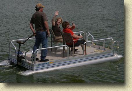 Personal pontoon lil sport 510 pontoon boats mid mini for Personal fishing boat