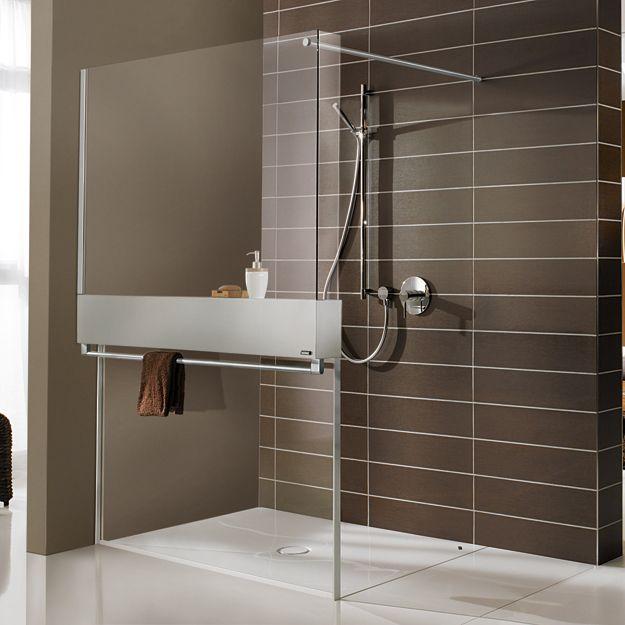 Moderne optiek met onvergelijkbare functionaliteit- douchewand met ...