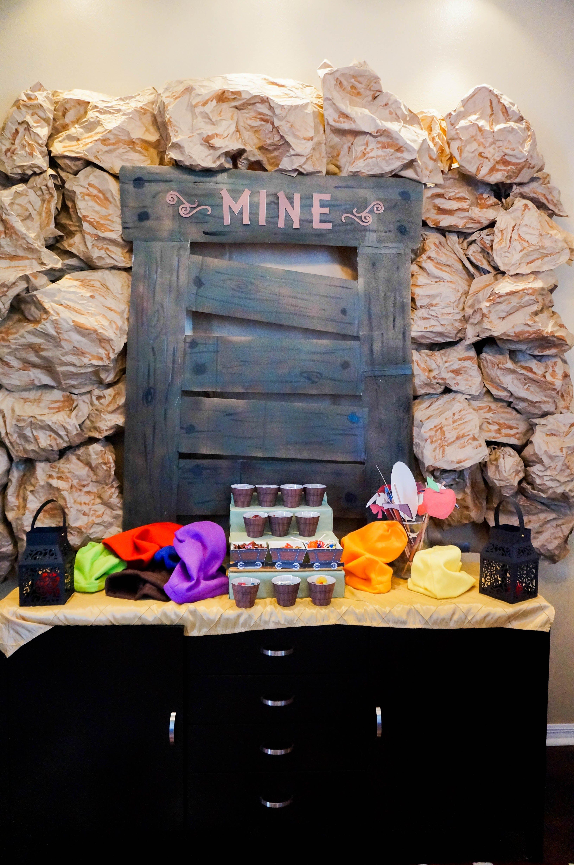 Snow White Birthday Party, Seven Dwarf Theme, Mine