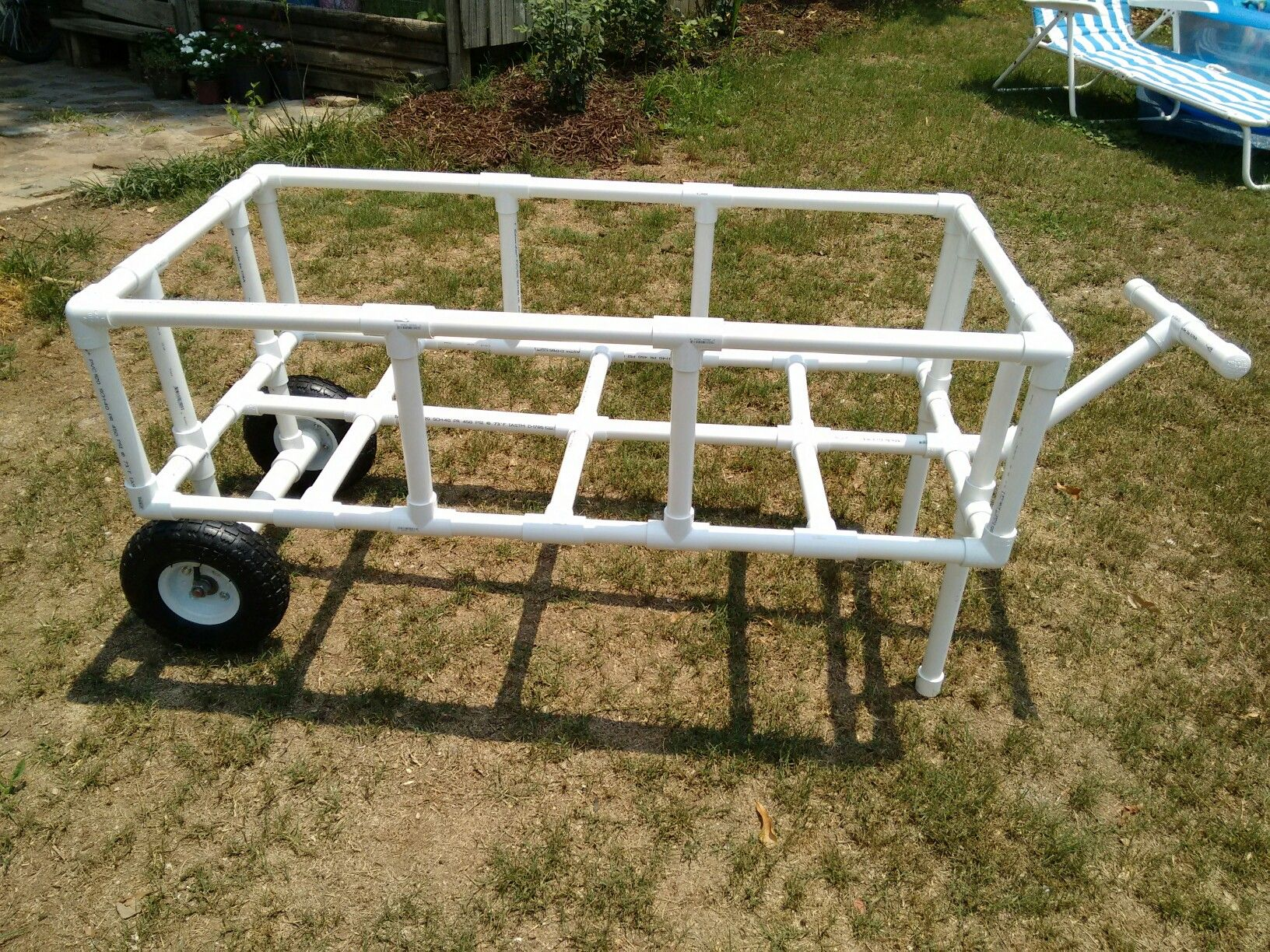 Pvc Beach Cart Can T Wait To Use Still Need To Glue The