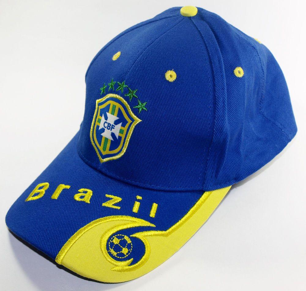 BRAZIL SOCCER CAP BLUE SPORT FOOTBALL FÚTBOL FUTEBOL