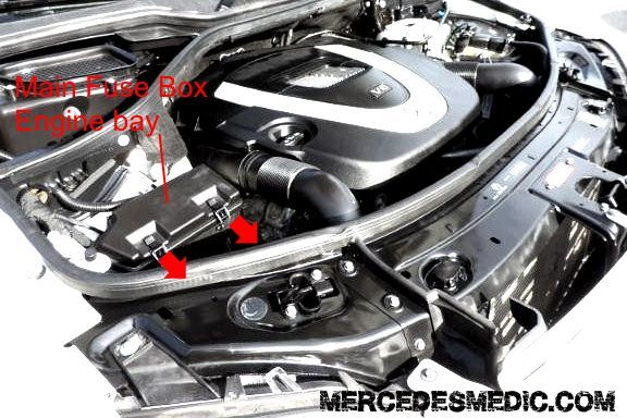 Fuse Box Chart in Engine Bay W164 m-class | Mercedes | Pinterest ...