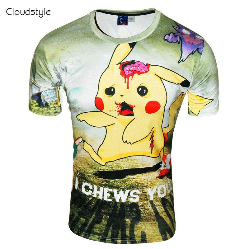 Funny Pokemon  Pikachu  3D Printed Women//Men/'s T-Shirts