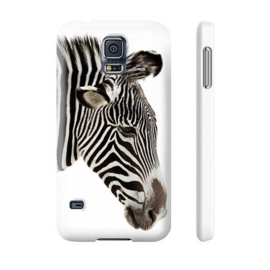 Zebra On White Phone Case