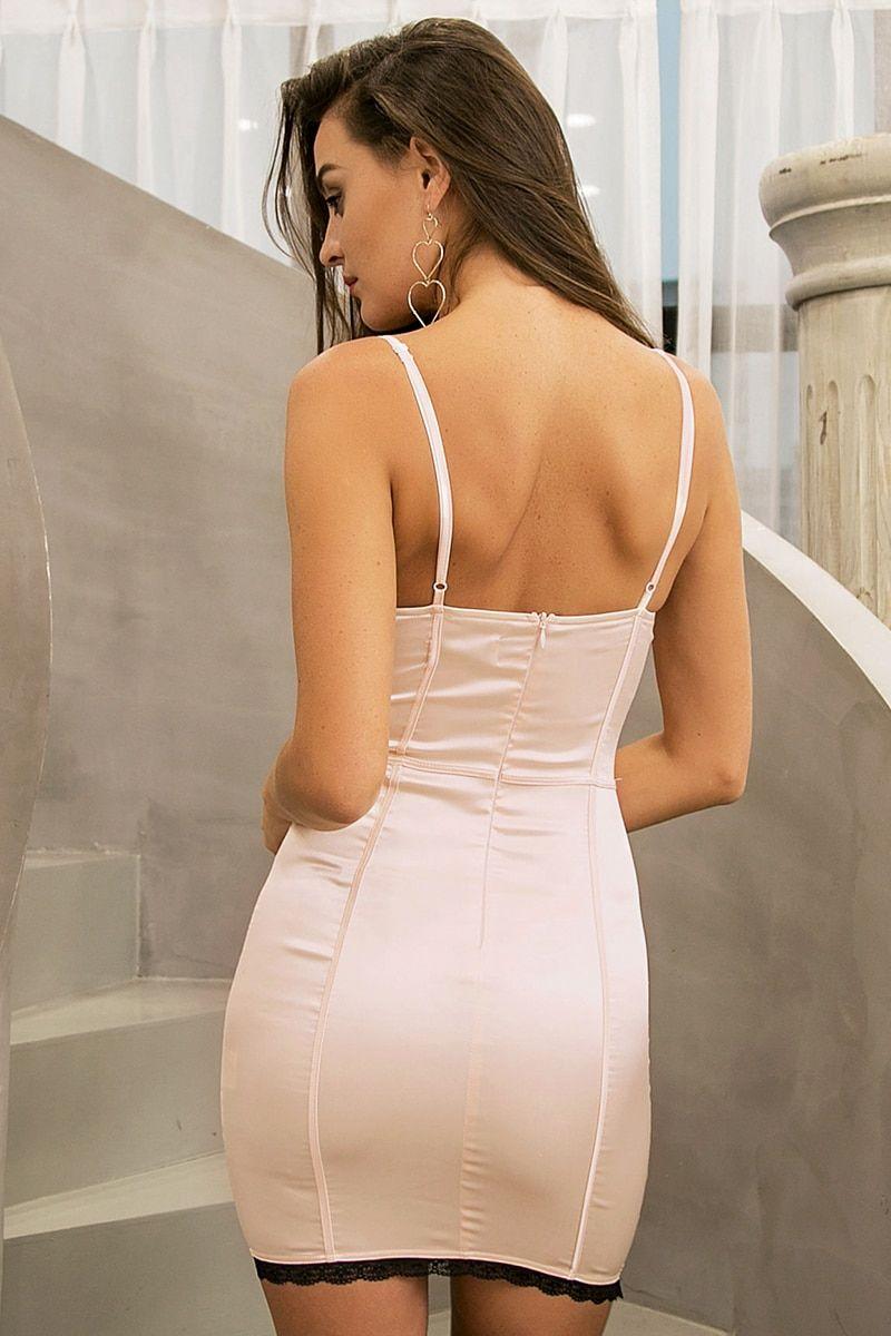 7d1d690d50 Glamaker Satin lace dress women Sexy sleeveless halter mini dress ...