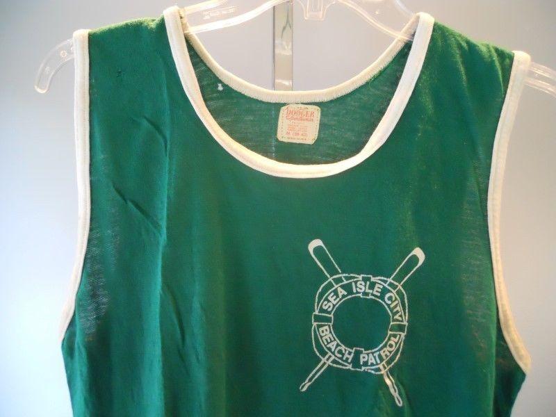 45464ee6b83 Vintage 1970s New Jersey Shore Lifeguard Tank Top T Shirt Sport Beach  Patrol M